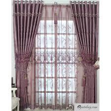 Light Purple Curtains Romantic Purple Lace And Printed Energy Saving Curtains Buy