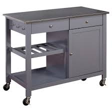 kitchen islands with stainless steel tops columbus kitchen cart with stainless steel top gray tms target