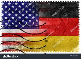 Usa Flag History Usa Germany Flag Old Postage Stamp Stock Illustration 239068921
