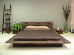 solid wood platform bed frame for classy bed marku home design