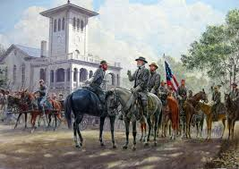 robert e lee and his staff painted by mort kunstler for haunting accounts