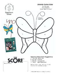 free stained glass pattern 2252 butterfly stake patterns by