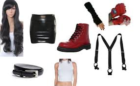 Cloud Strife Halloween Costume Final Fantasy Tifa Lockhart Styleboard Kaboodle Roupas