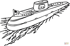 submarine coloring page free printable coloring pages