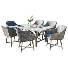 6 seater outdoor dining table kettler lamode 6 seater garden dining table and chairs set rattan