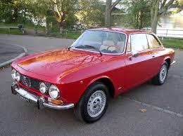 alfa romeo classic gtv classic chrome alfa romeo gt 1300 junior 1974 historic plate red