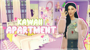 the sims 4 speed build kawaii apartment youtube
