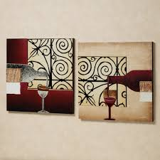 picturesque canvas portray kitchen wall decor with classy pattern