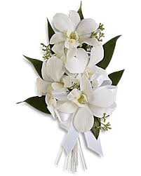 corsage flowers graceful orchids corsage teleflora