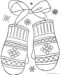 winter holiday coloring sheets kids coloring