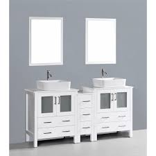 Phoenix Bathroom Vanities by Contemporary 72 Inch White Double Rectangular Vessel Sink Bathroom