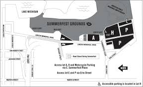 University Of Michigan Parking Map by Getting Here Summerfest The World U0027s Largest Music Festival