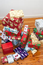 photo of collection of colourful gift wrapped xmas presents free