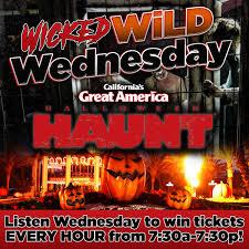 Californias Great America Halloween Haunt by Wicked Wild Wednesday Win Halloween Haunt Tickets Iheartradio