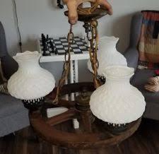 Milk Glass Chandelier Wagon Wheels Fixtures Ebay