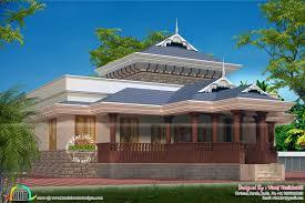1920 sq ft kerala traditional single floor villa kerala home