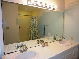 bathroom unique frameless bathroom wall mirror on white colors