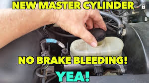 How To Bench Bleed Master Cylinder Ford Expedition New Brake Master Cylinder No Brake Bleeding How