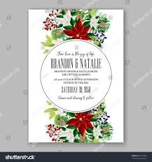 Marriage Invitation Sample Poinsettia Wedding Invitation Sample Card Beautiful Stock Vector