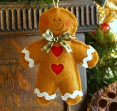 24 cute christmas gingerbread decoration ideas handmade felt