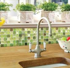 Green Backsplash Kitchen Home Bathroom Kitchen Wall Decor Stickers Peel And Stick Tile