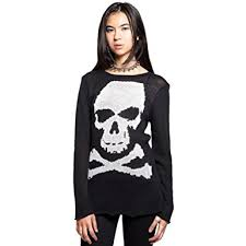 skull sweater amazon com tripp nyc s skull sweater black clothing