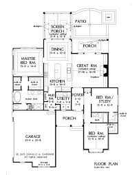 How To Draw A House Floor Plan Home Plan The Tucker By Donald A Gardner Architects