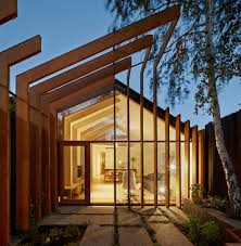fmd architects used slender lengths of timber to