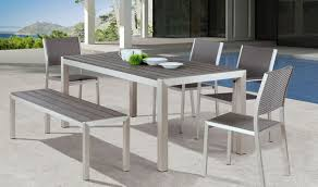 aluminum dining room chairs metropolitan dining room set in brushed aluminum by zuo get