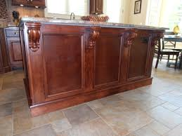 kitchen island stain corbels counter top cabinets kitchen
