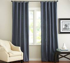 Emery Drapes For Living Room In Ink Blue Emery Linen Cotton Drape Pottery