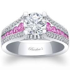 pink gold engagement rings barkev white gold pink sapphire diamond engagement ring