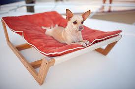 the bambu pet hammock ii provides a stylish spot for your furry