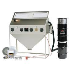 blast cabinet light kit alc 60 in abrasive blaster cabinet with starter kit 4041310 the