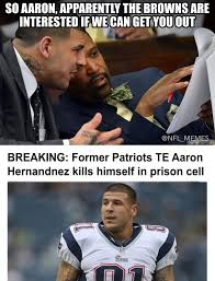 Football Player Meme - social media reacts to aaron hernandez taking his own life in prison