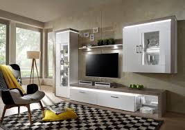 Wohnzimmerschrank Niedrig Wohnwände Mit Beleuchtung Online Kaufen Baur
