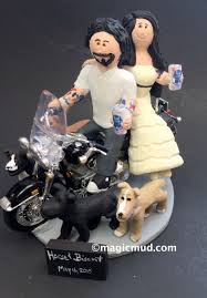 harley davidson wedding cake toppers groom and on harley davidson wedding cake topper harley