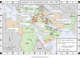 Map Of The Middle East by Atlas Map Conflict In The Middle East 1945 1997