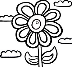 printable flower coloring pages kids pictures print