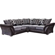 Grey Silver Sofa Black And Silver Swirl Fabric Corner Sofa