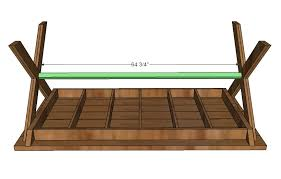 Free Wood Picnic Bench Plans by Ana White Vanessa U0027s X Picnic Table Diy Projects