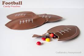 football favors craftaholics anonymous football candy pouches a football craft