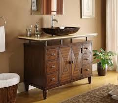 Bathroom Vessel Sink Vanities Signature Hardware Within Vanity - Bathroom vanity for vessel sink