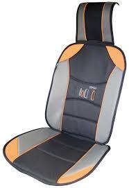 couvre siege confort couvre siege auto ergoseat gris clair gris fonce lisere orange avec logo
