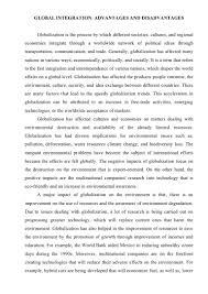 sample essay technology essay globalization