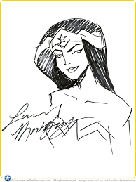 dc universe animated original movie wonder woman sketch by lauren