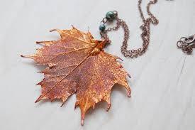 real leaf necklace images Large fallen copper maple leaf necklace real maple leaf pendant JPG
