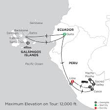 Ecuador On World Map by Ecuador Vacation Packages From Monograms