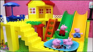peppa pig mega big bloks house with swimming pool peppa pig toys