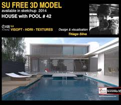 home design 3d textures sketchup texture free sketchup 3d model house with pool 42 vray